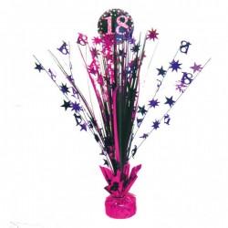 Tafeldecoratie 18 roze met zilver