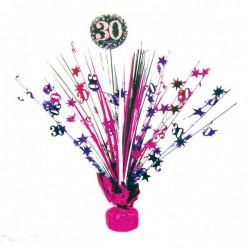 Tafeldecoratie 30 metallic roze