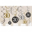 Swirls decoraties 30 metallic zilver met goud
