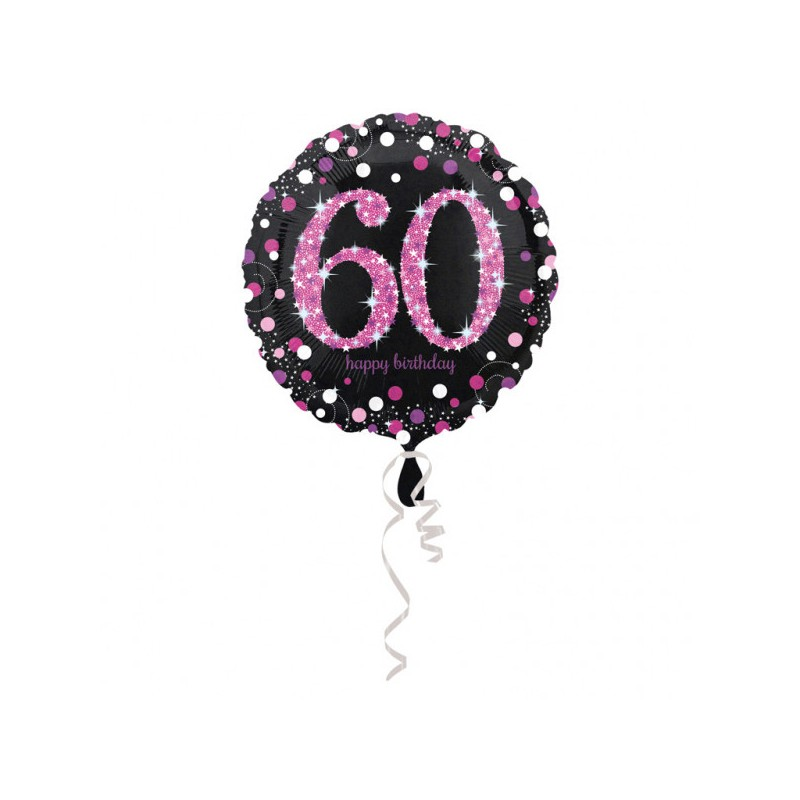 Folieballon 60 metallic roze
