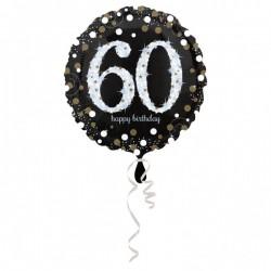 Folieballon 60 metallic zilver met goud