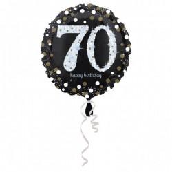 Folieballon 70 met zilver en goud