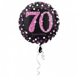 Folieballon 70 zwart met goud