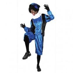 Pietenpak volwassenen blauw/zwart