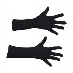 Handschoenen zwart 40 cm lang