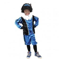 Pietenpak kind blauw/zwart