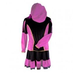 Pietenjurk volwassenen roze/zwart
