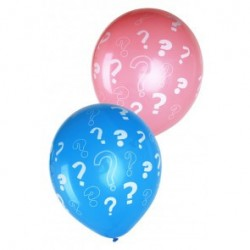 Gender reveal ballonnen 8st