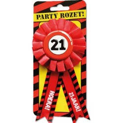Party rozet - 21 jaar