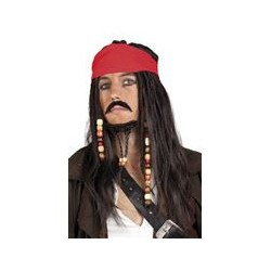 Pruik piraat Jack Sparrow - pirates of caribbean