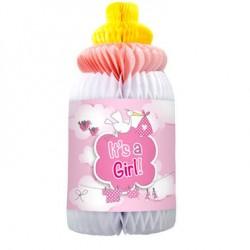 Honingraat fles geboorte meisje