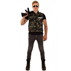 Camouflage vest heren one size