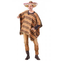 Mexicaanse poncho heren one size