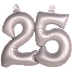 Opblaascijfer 25