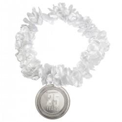 Hawaikrans zilver met hanger 25