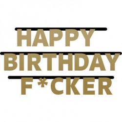 Letterslinger 'Happy Birthday F*cker'