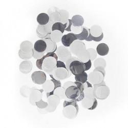 Confetti groot zilver metallic