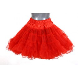 Petticoat lang 3-laags rood