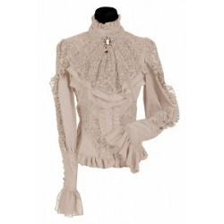Damesblouse luxe 'London' ecru
