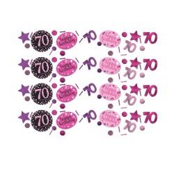 Confetti 70 metallic roze