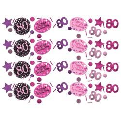 Confetti 80 metallic roze