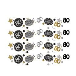 Confetti 80 metallic zilver met goud