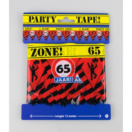 Party tape - 65 jaar