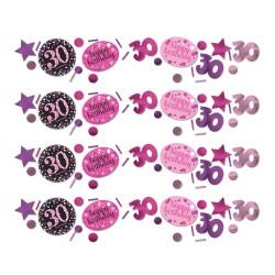 Confetti 30 metallic roze
