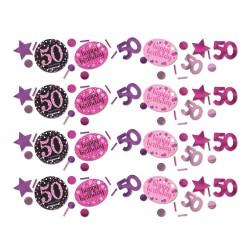 Confetti 50 metallic roze