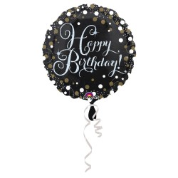 Folieballon Happy Birthday metallic goud