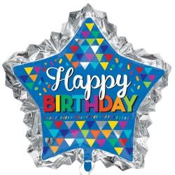 Heliumballon Happy Birthday ster