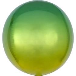 Heliumballon rond groen/geel