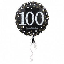 Heliumballon 100 metallic goud