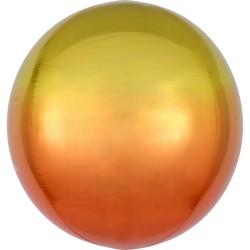 Heliumballon rond geel/ oranje
