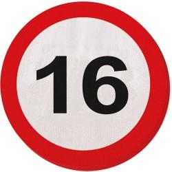 Servetten verkeersbord 16