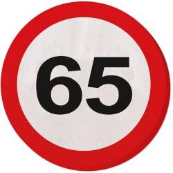 Servetten verkeersbord 65