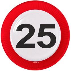 Borden verkeersbord 25