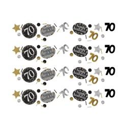 Confetti 70 metallic zilver met goud