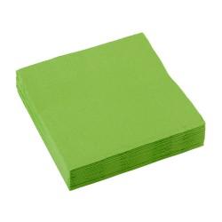 Servetten kiwi green 25x25