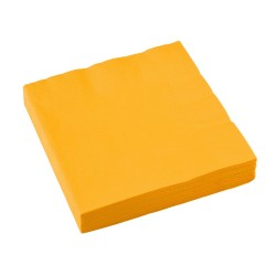 Servetten sunshine yellow 33x33