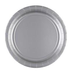 Papieren borden zilver