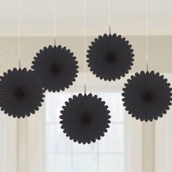 Decoratieve fans zwart