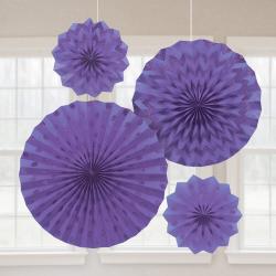Decoratie fans glitter new purple