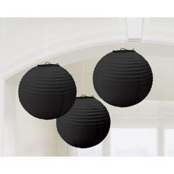 Lampionnen zwart
