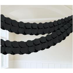 Papieren slinger zwart
