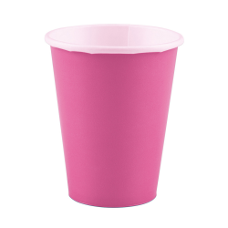 Papieren bekers bright pink