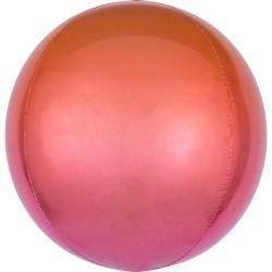 Heliumballon rond oranje/rood