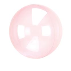 Heliumballon rond doorzichtig hard roze