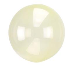 Heliumballon rond doorzichtig geel