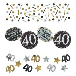 Confetti 40 metallic goud